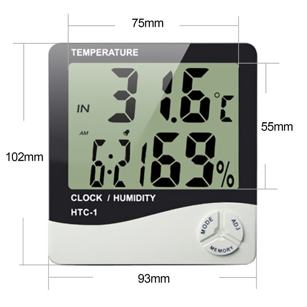 small digital room thermometer wire digital thermo-hygrometer hygrometer thermometer