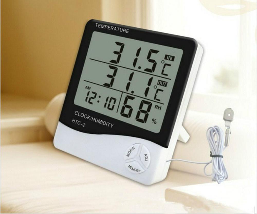 wall clock digital room thermometer hygrometer