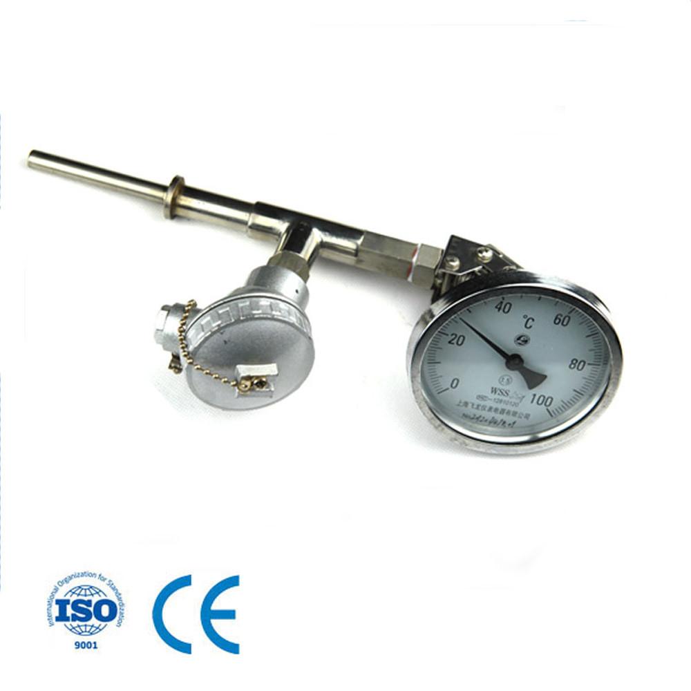 Bimetal Thermometer 60mm 100mm 150mm temperature dial gauge