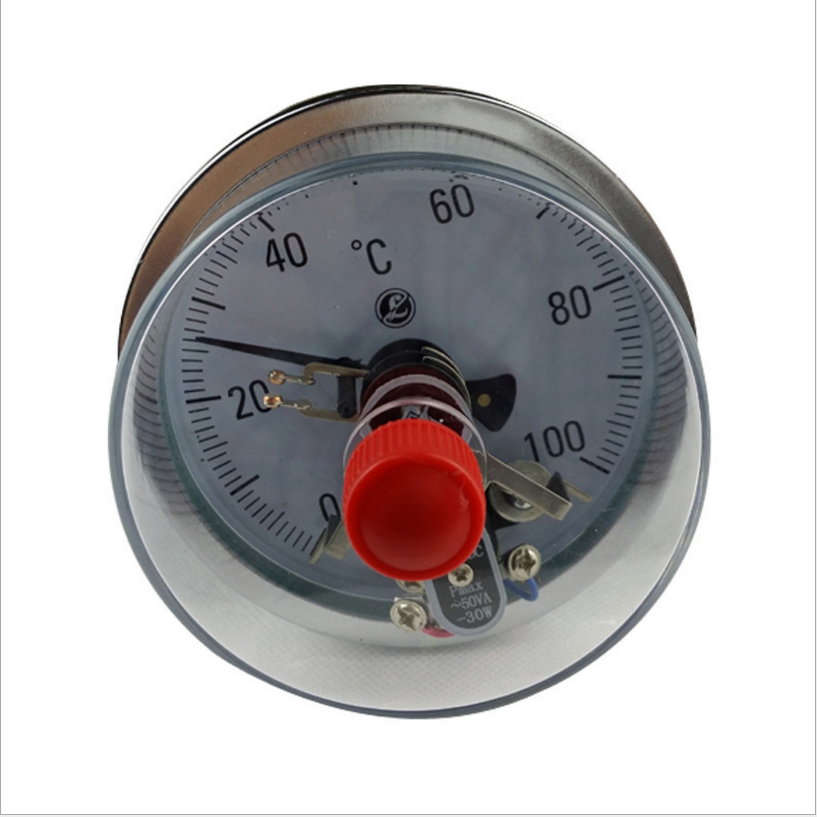 Industrial instant reading electric contact bimetal dial thermometer