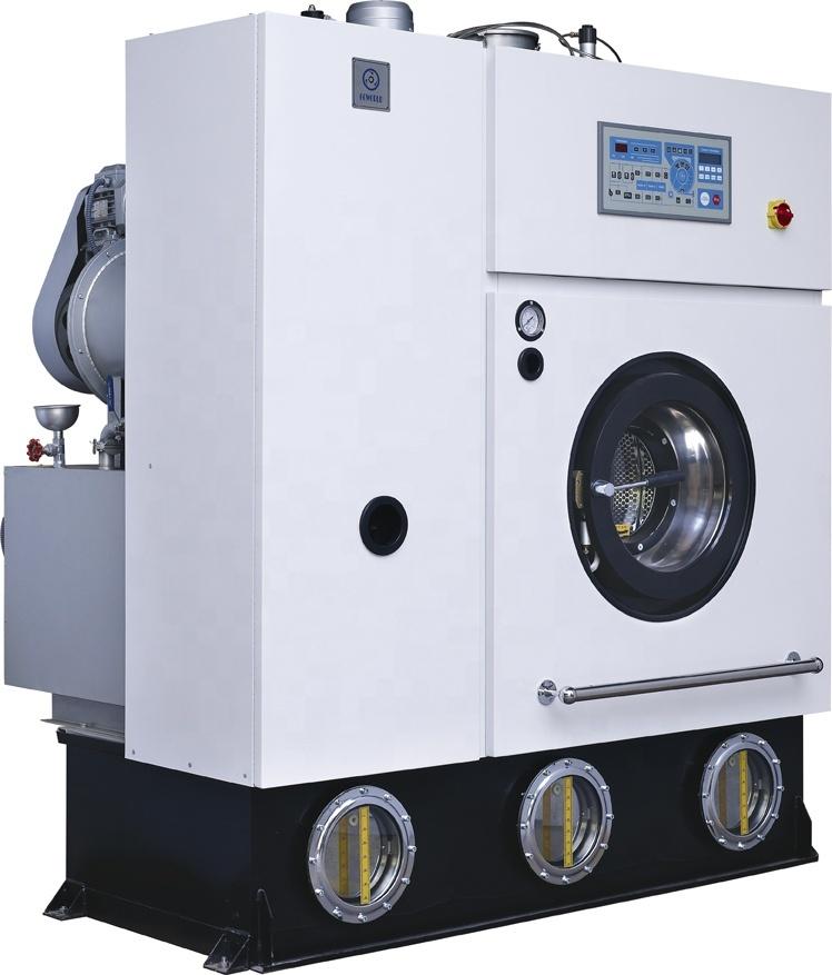 10kg steam heating laundry dry cleaner(washer,dryer,flatwork ironer) for Burundi