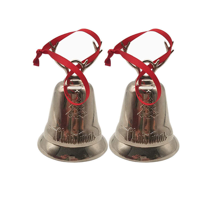 Silver Bronze Copper Hand Metal Call Tea Dinner Game Christmas Bell as Gifts