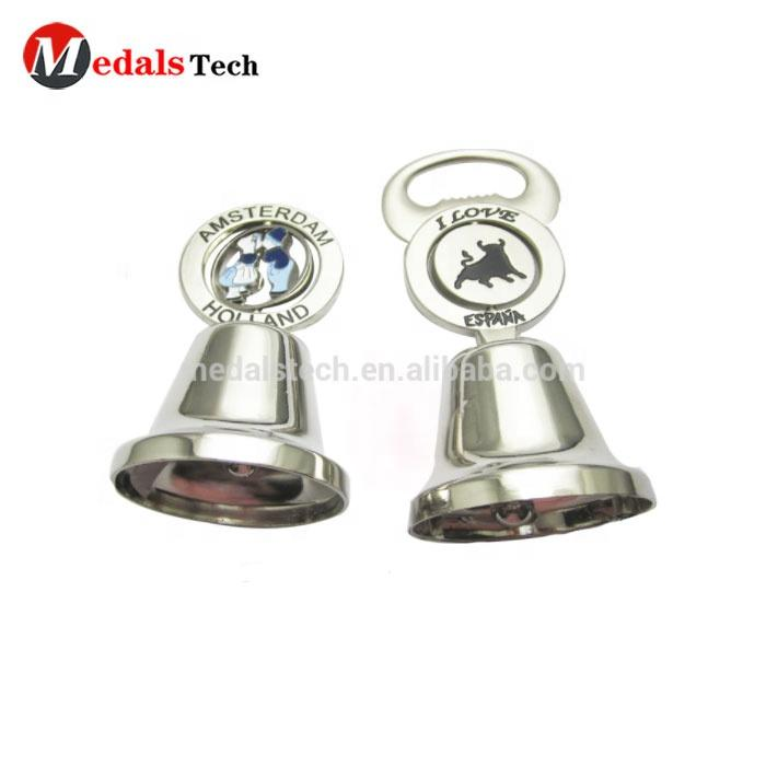 Christmas New Year Pomotional Decorative handmade double plated metal australia souvenir Christmas bell
