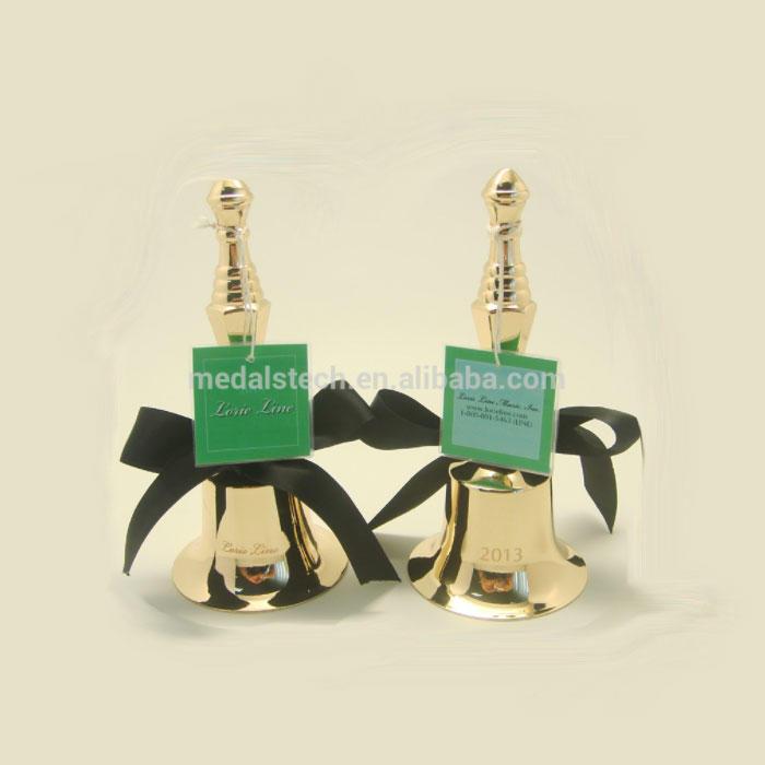 Custom 3D design silver zinc alloy small metal craft wedding souvenir bells