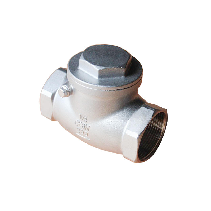 CF8/CF8M SS Threaded 200 WOG Full Port Cast Swing Stainless Steel Check Valve