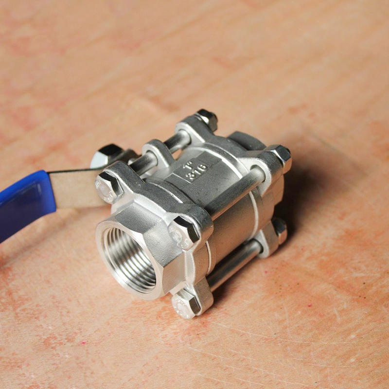 Manual Operation SS304 SS316 1000 WOG Stainless SteelFemale 3 PC Ball Valve