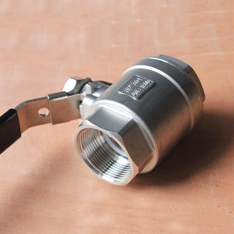 2PC 1000 WOG BSP Thread CF8M Manual Locking Device Stainless Steel Ball Valve