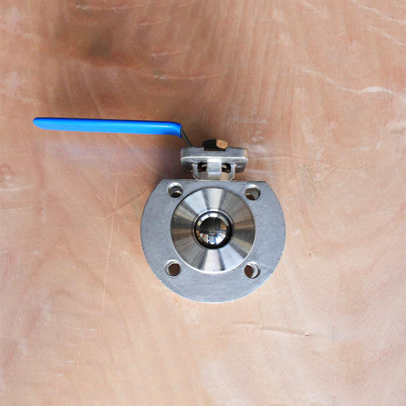 CF8 CF8M 1 PC Thin Mounting Pad Type Flanged Wafer Stainless Steel Ball Valve