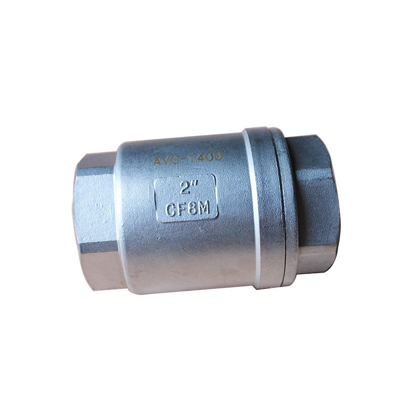CF8M 2 PC Spring Female 1000 WOG H11 Vertical Stainless Steel Check Valve