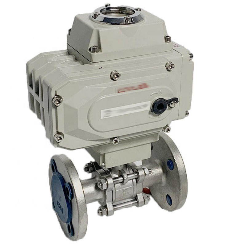 Direct Mounting Pad CF8M 3PC Stainless Steel 1000 WOG Electric Actuated Flange Ball Valve