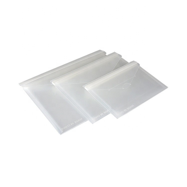 Stock Promotional Wholesale Good Quality Office Desk Stationery Waterproof 7 5/8*9 5/8 Inches Folding Pvc File Bag