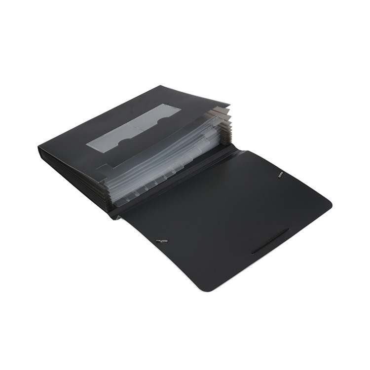 Factory Directly Office Stationery Black Custom Brand PP 13-Pocket Expanding File Folder