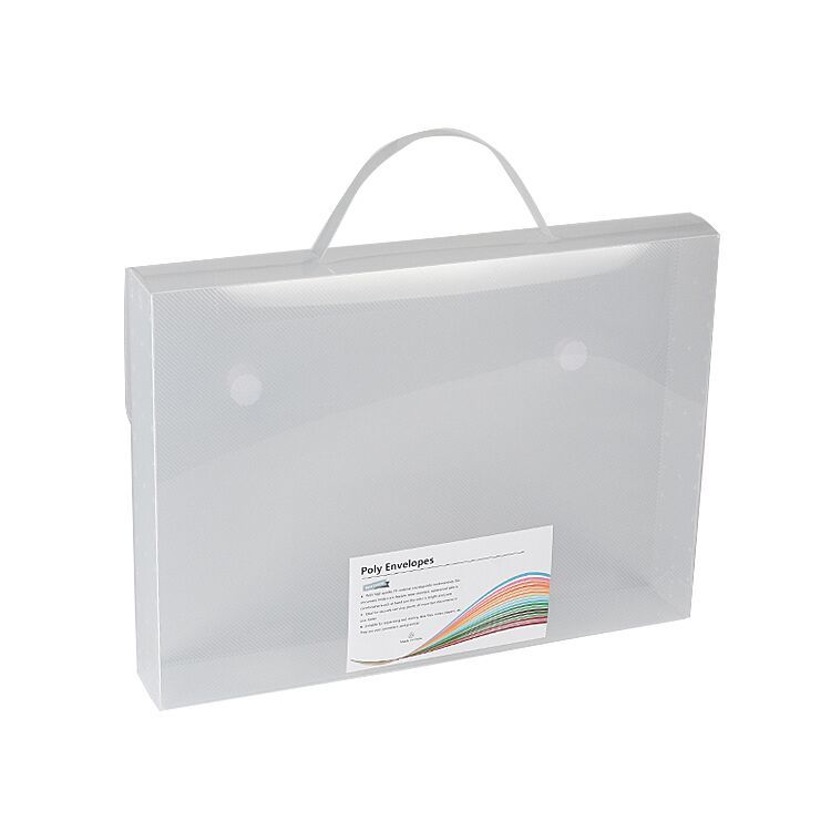 Wholesale Office And School Use Pp Plastic Organizer File Box with Buttons