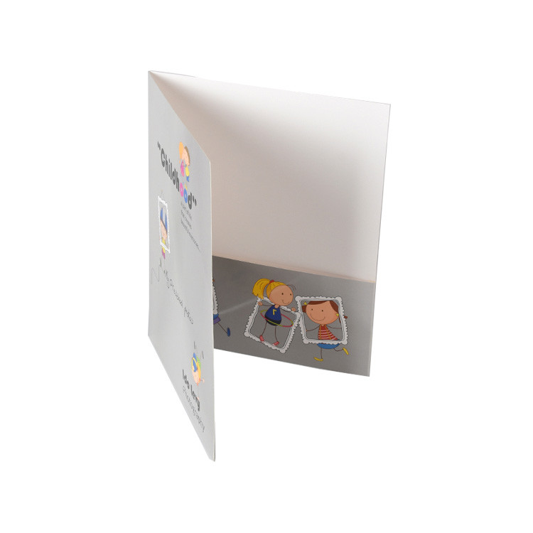 Custom Full Printing A4 Size Paper Two Pocket Document Folder