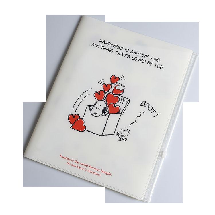 Best Seller Custom Logo PVP Zipper File Folder Bag A4 Plastic Folder