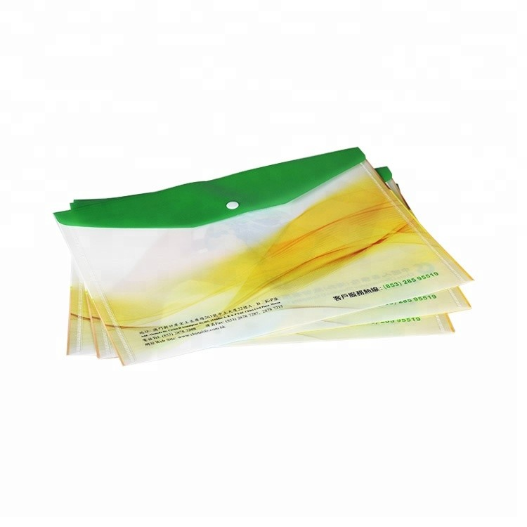 High quality cheap custom business product A4 pp button file bags