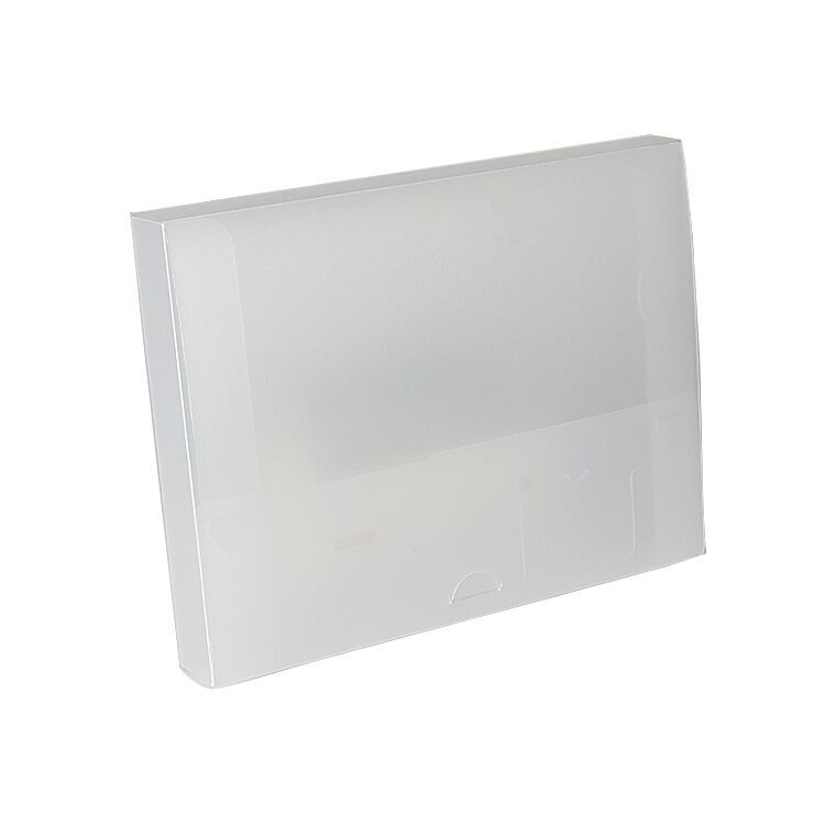 Eco-friendly A4 Size Clear PP Plastic File Box PP Document Box for Office And School