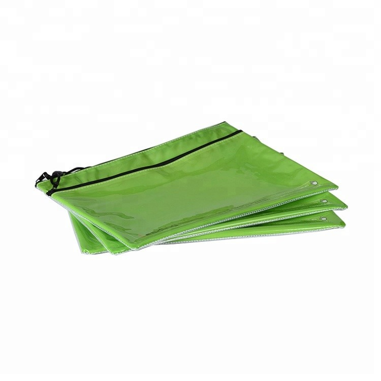 Custom pvc material double layer A4 size zipper file holder
