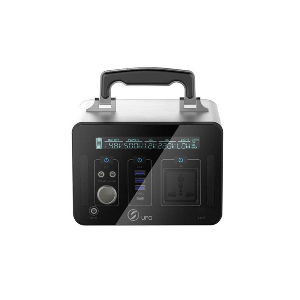Advantageous price 500Wh large capacity black environmental protection lithium battery backup power