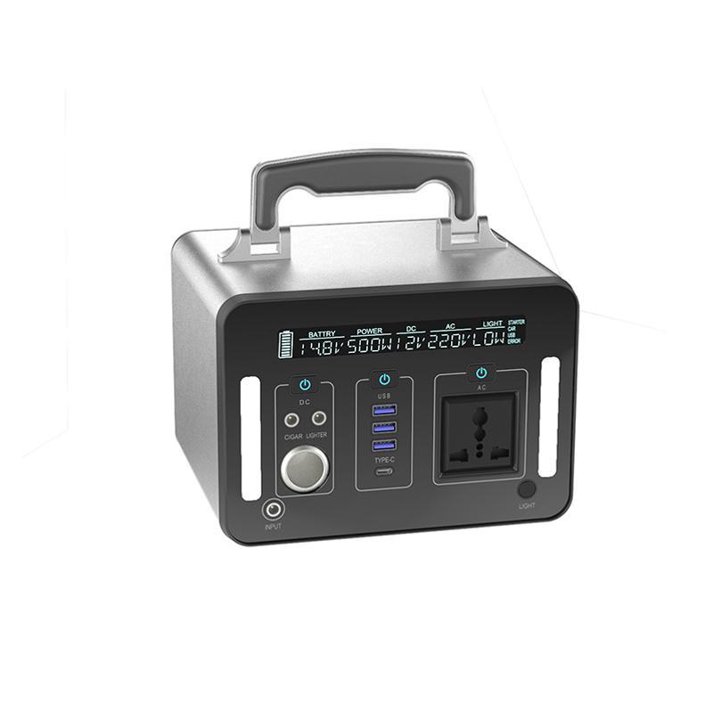 High quality 500Wh large capacity black energy saving lithium battery portable solar generator