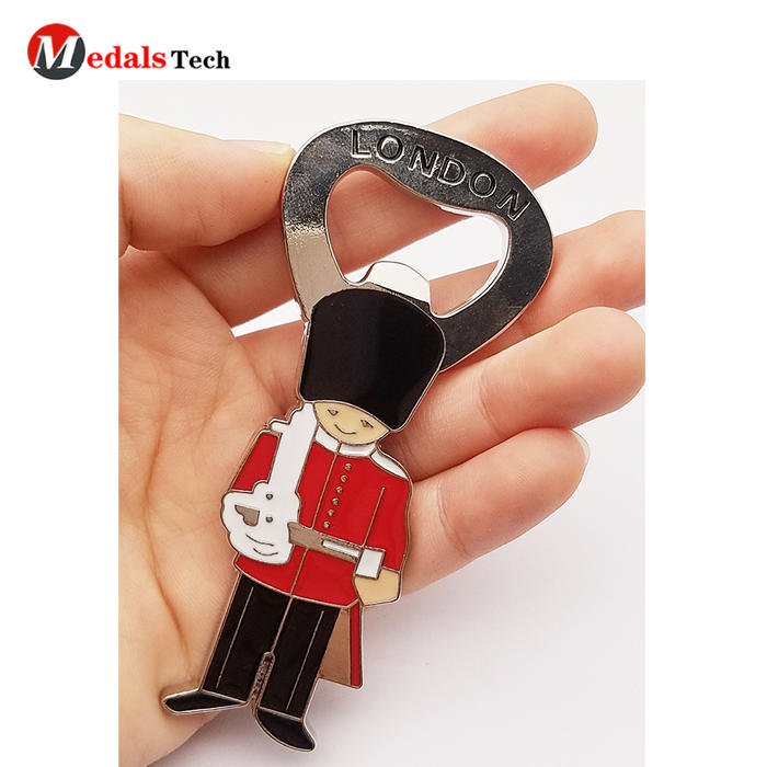 Wholesale alloy silver plated cartoon design custom epoxy souvenir metal refrigerator magnet for fridge