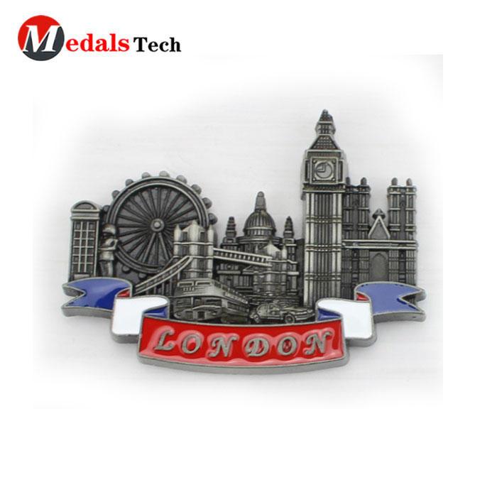 Factory price wholesale travel souvenir metal magnet fridges /custom 3d fridge magnets /refrigerator magnets