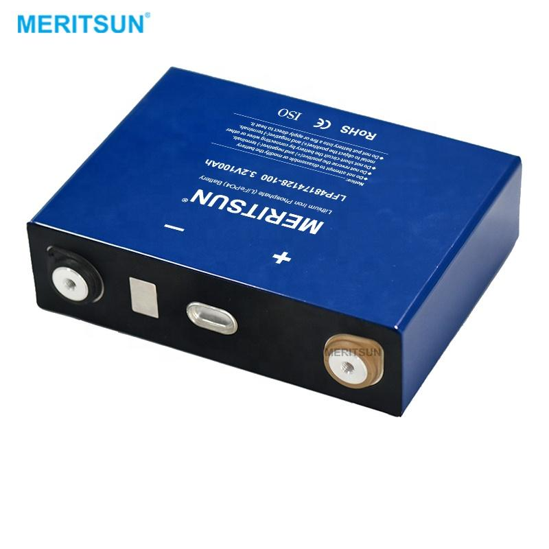MeritSun LFP 3.2v 100ah lifepo4 batteries Prismatic rechargeable lithium ion cell for battery pack