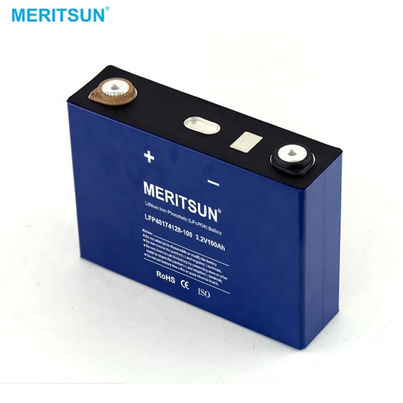 MeritSun Lifepo4 Lithium Battery 50Ah 90Ah 120Ah 202Ah 280Ah LiFePO4 Cell for Solar system
