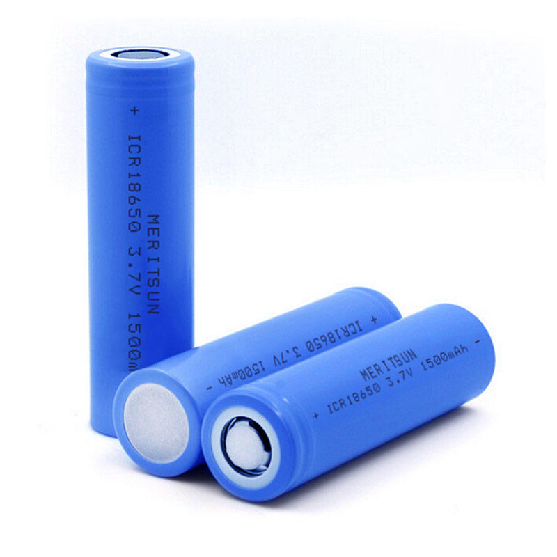 High Drain Battery ICR 18650 1500mAh 3.7V 3.6V Lithium Li-ion Rechargeable Battery