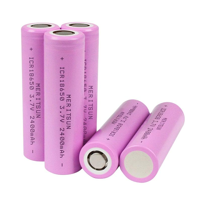 Shaoguan 3.7V 2400mAh ICR 18650 Lithium Li-ion Rechargeable Lipo Battery