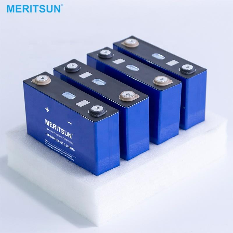 MERITSUN 3.2v 80ah lithium ion high capacity lifepo4 rechargeable Prismatic battery lifepo4 cell for solar