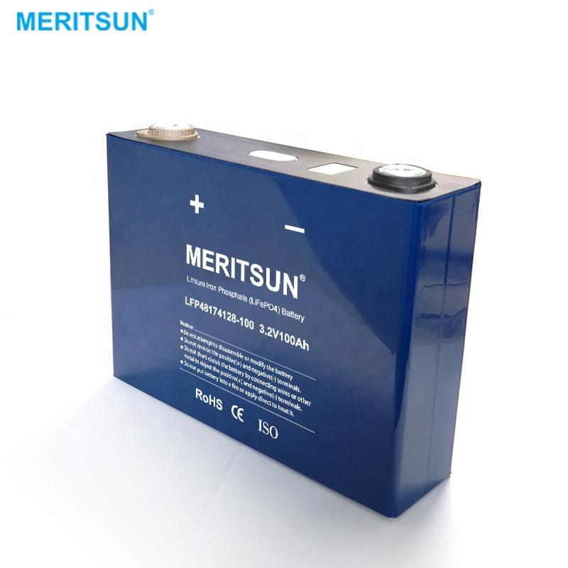 MeritSun Rechargeable lithium prismatic cell 3.2V lifepo4 batteries 280ah