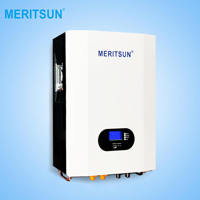 2020 New Fashion MeritSun Powerwall 10Kwh48V 200Ah Lithium Iron Phosphate Battery