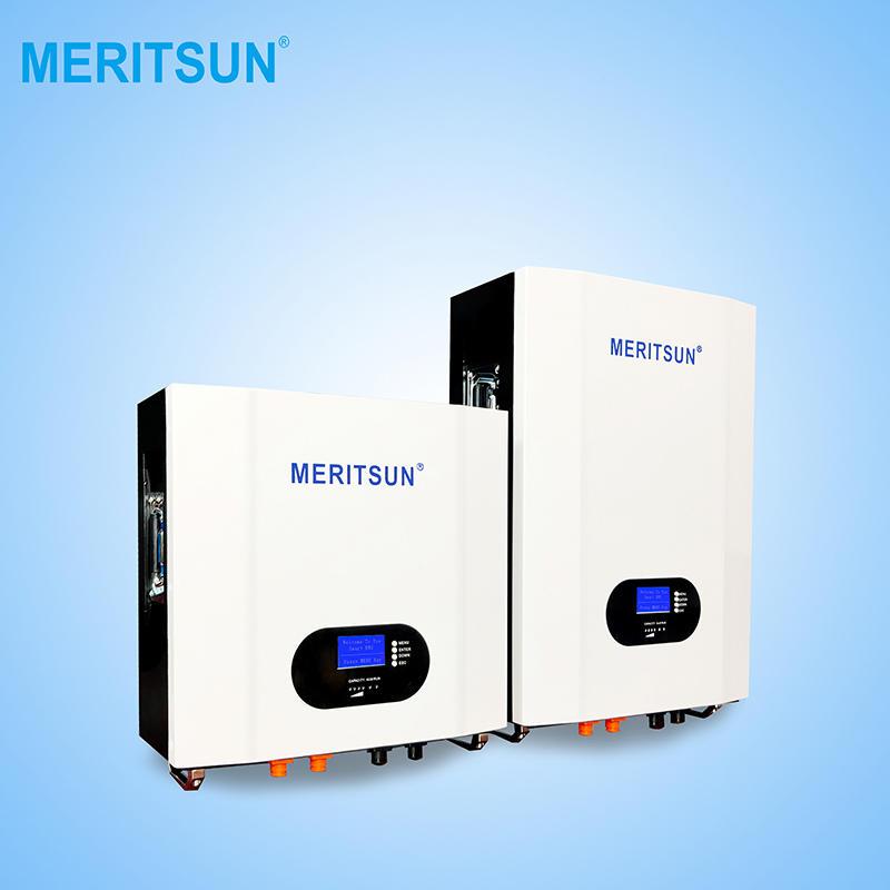 2020 New Single MeritSun Powerwall 5kwh 7kwh 10Kwh Home Storage Slim Powerwall 48V For Energy Storage System