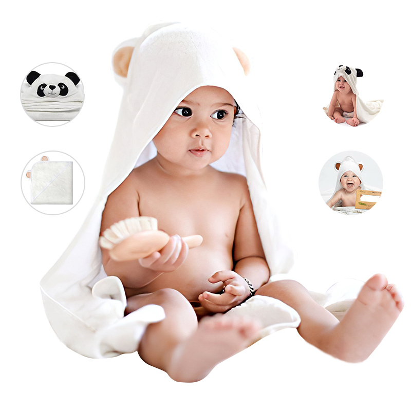 baby hooded towel bamboo thick Terry part for bathing