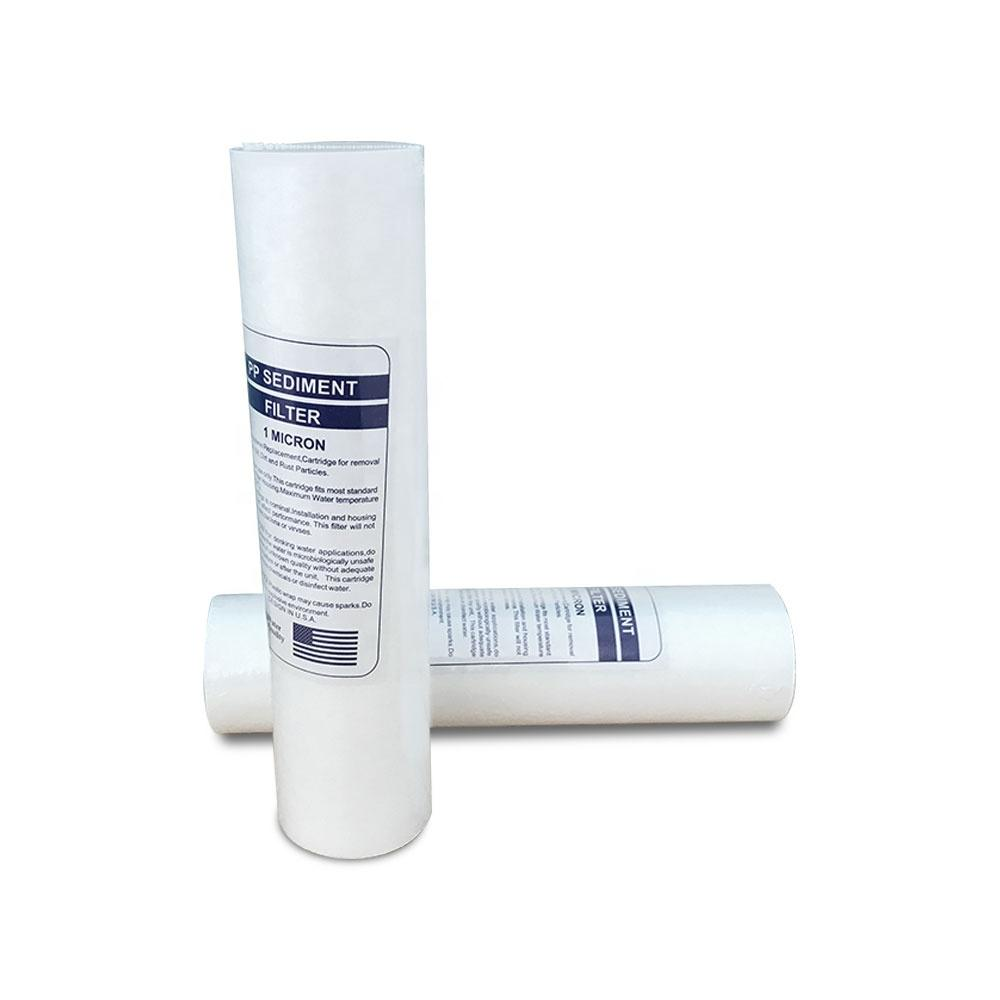 10inch Melt blown ro water filtration pp sediment filter cartridge for water filter