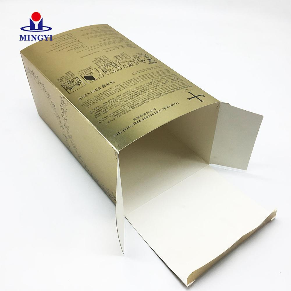 Small Paper Printing And Card Board Beauty Sponge Wine Glass Boxes Kraft Foldable Header Brownies Bottle Box Packaging With Lo