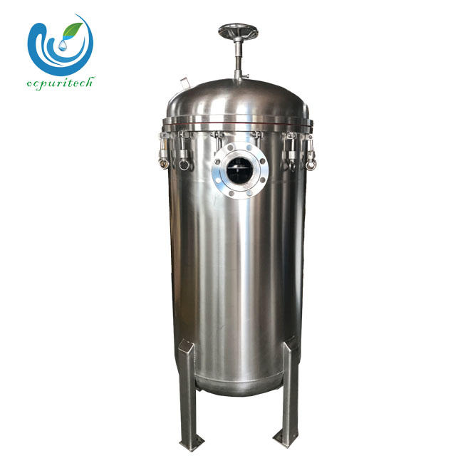 Sanitary GradeSUS 304 stainless steel Bag Filter housing of water treatment