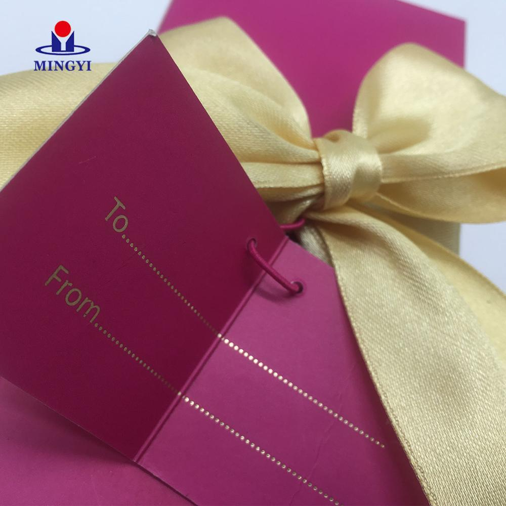 Customized candy paper lash box wedding with logo & bowknot decoration