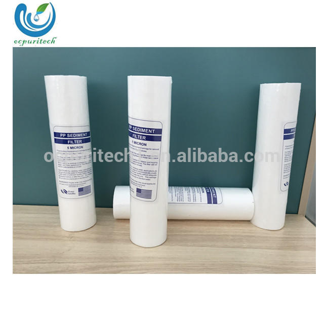 CE 10 inch pp water meltblown sediment filter cartridge with 5 micron/ 1 micron in reverse osmosis