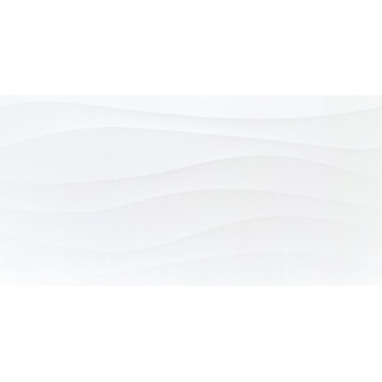 White wall wavy edge tile