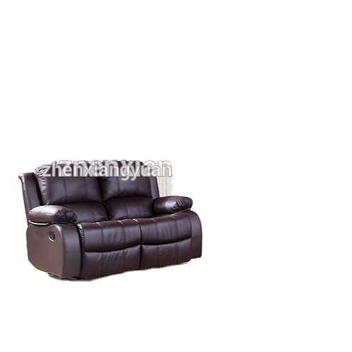 2021 furniture moder Home sofa leather recliner salon 2+3 brown leather motion sofa