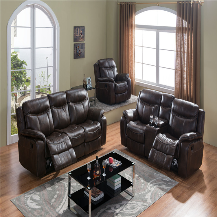 Air Leather 1+2+3 Recliner Sofa Sets Home Furniture Manufacturer