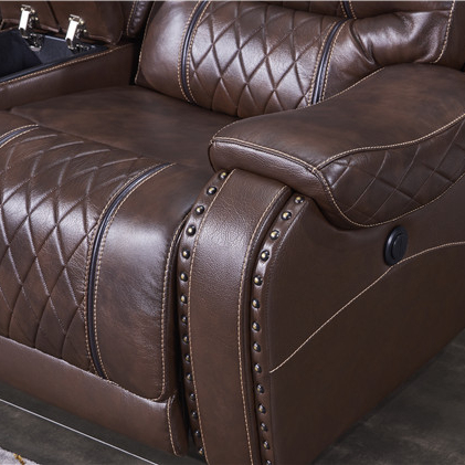 Home Furniture sofas modern recliner sectional sofa withleather Air brown color