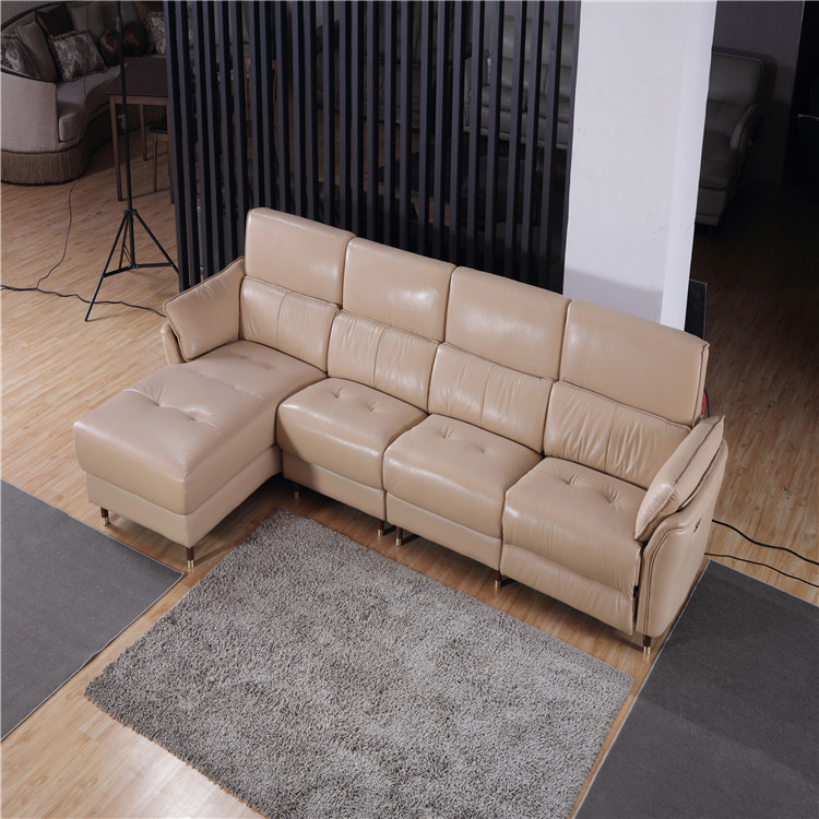 2019 new leisure sofa with recliner for living room