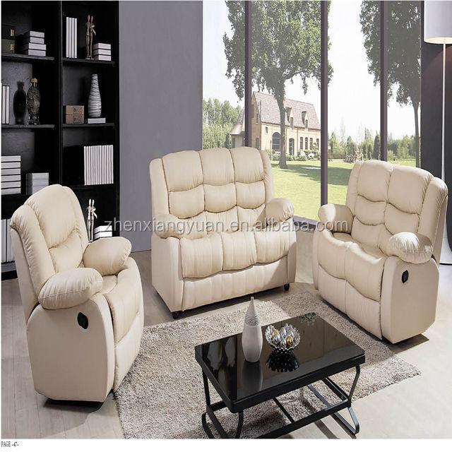 leather recliner sofa set living room furniture