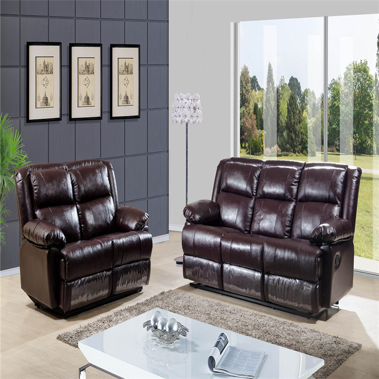 Small Home Furniture Living Room Sofa Leather Recliner Sofa