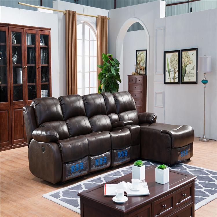 Modern living room sofa L shape sleeper sofa with scientific cloth