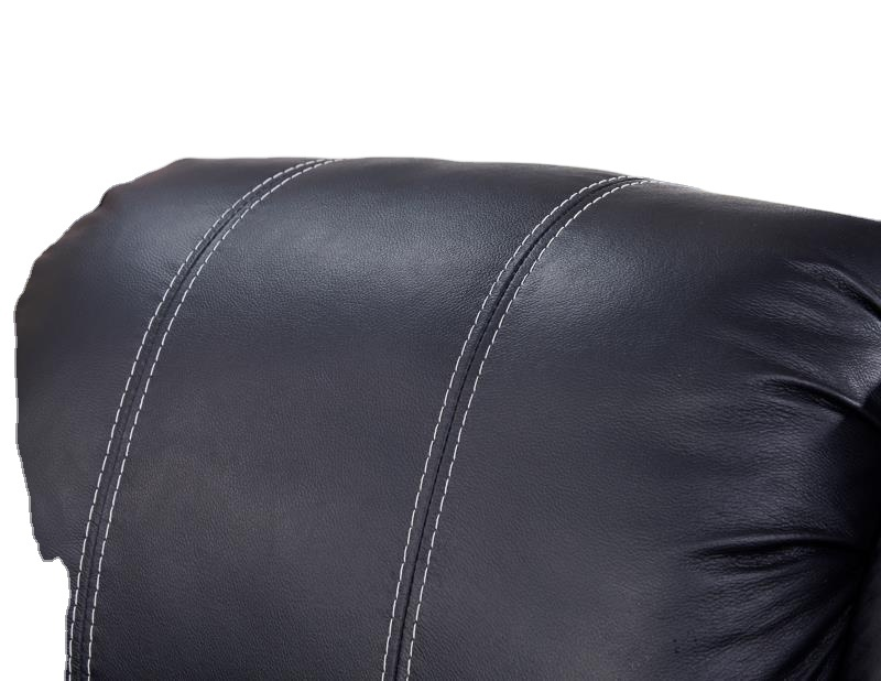 2021 furniture Living room new recliner motion black genuien leather sofa with cupholder