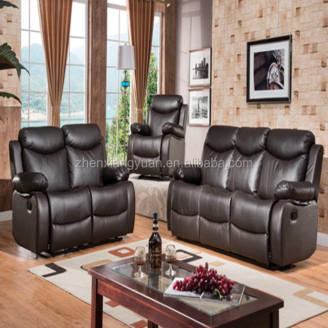Modern Recliner Sofa Set For Living Room